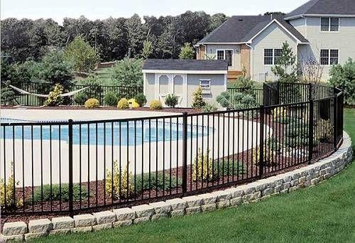 13 Latest And Elegant Wrought Iron Pool Fence Ideas Pool Pool Fence Aluminum Fence Fence Landscaping