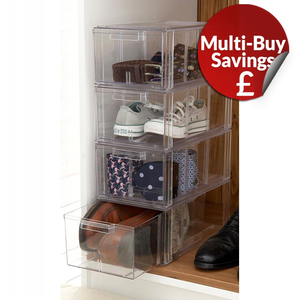 Large Clear Stackable Shoe Storage Drawers Shoe Storage Drawers