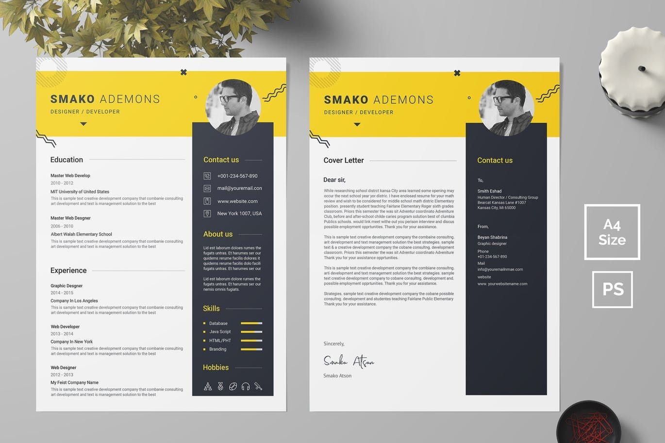 Resume Template 40 by bdthemes on Resume templates