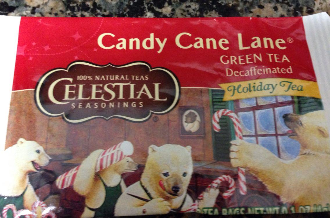 Celestial Seasonings Candy Cane Lane Decaf Green Tea
