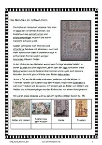 Daz Und Kunst Romische Mosaike Romische Mosaiken Kunst Unterrichten Musik Und Kunst