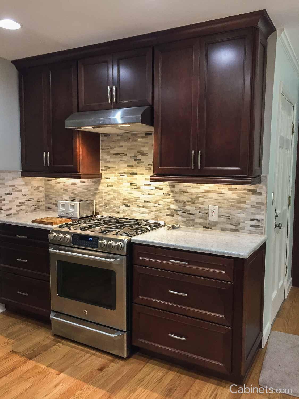 Belleair Maple Java Kitchen Backsplash Designs Kitchen Remodel Small Dark Kitchen Cabinets