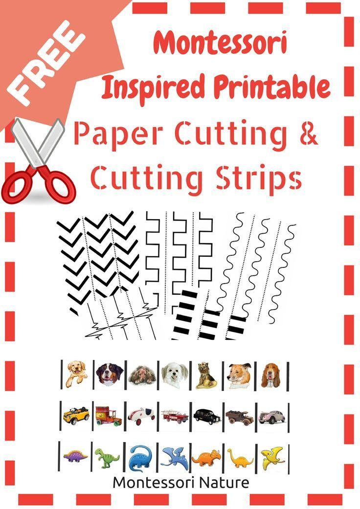 montessori nature montessori printable paper cutting and cutting strips fine motor. Black Bedroom Furniture Sets. Home Design Ideas