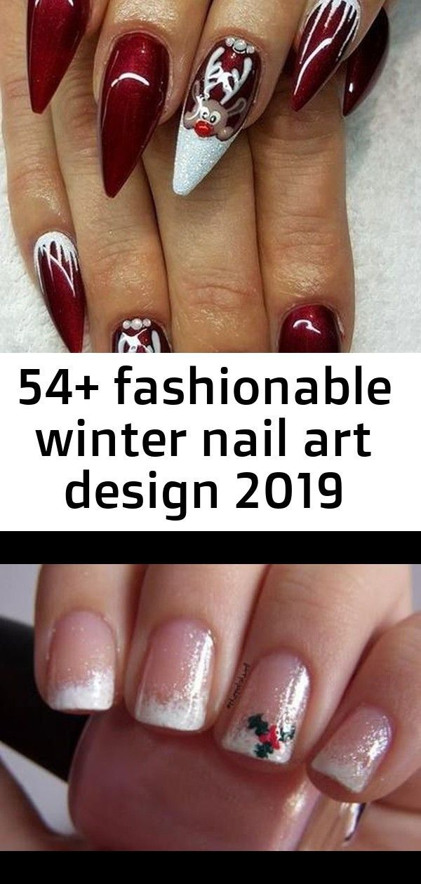 54+ Fashionable Winter Nail Art Design 2019 Nails Christmas Art Designs French Manicures 38 Ideas #nails The Best Pink Nails of All Time! TAYLOR MADIS…