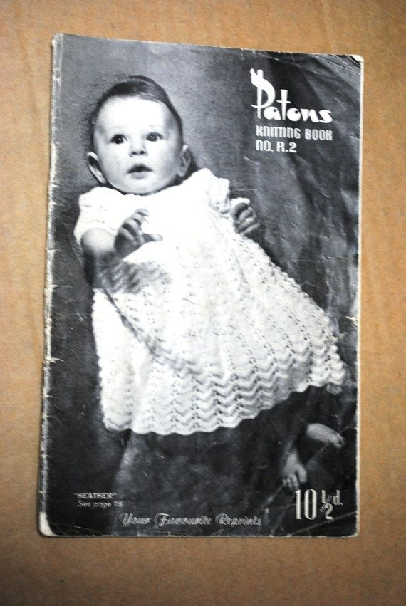 Vintage Late 1950s / Early 1960s PATONS BABY KNITTING Pattern Book ...