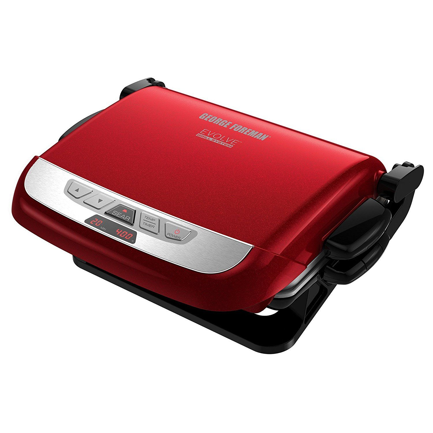 George Foreman Grp4800r 4 In 1 Multi Plate Evolve Grill Electric Grill Panini Press Grilling Baking And Cupcake George Foreman Grill Plate Ceramic Grill