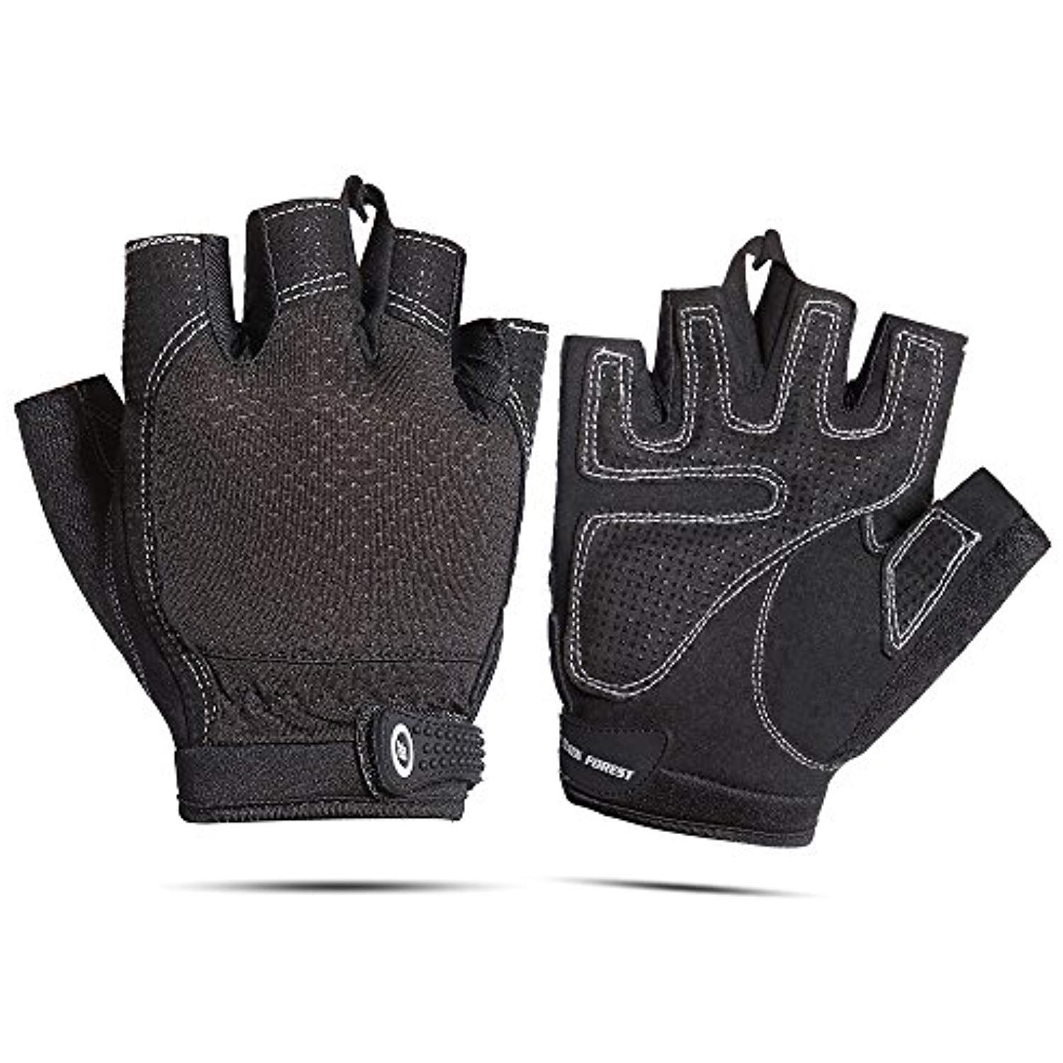White Weight Lifting Gym Padded Leather Training Workout Fitness Gloves