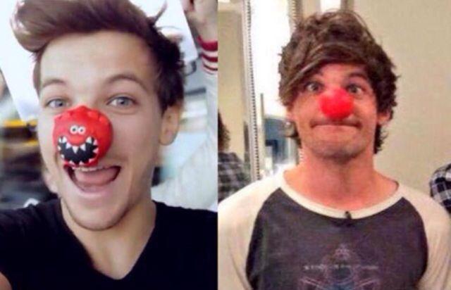 Louis #RedNoseDay then & now