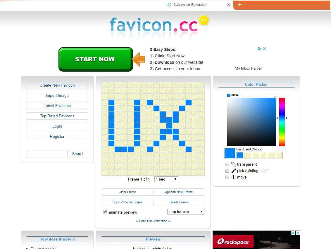 Favicon Cc Is A Tool That Lets You Design Favicons The Little Icons That Display In The Browser Tab Of Websites How To Make Animations Clear Frames Browser