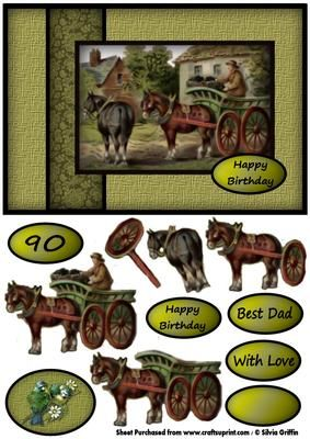Horse and Buggy on the Farm SBS on Craftsuprint - View Now!