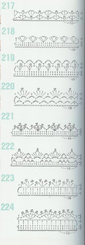 262 Patrones de crochet | Pinterest | Ganchillo, Tejido y Bordes de ...