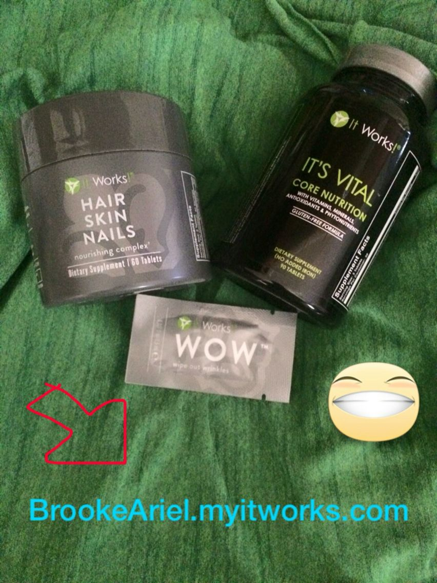 About to use these babies !   HAIR SKIN & NAILS ⬇️  • Supports the body's defenses against free radical damage •Moisturizes while enhancing skin's elasticity and flexibility •Promotes healthy cell growth, strength, and shine  ITS VITAL CORE NUTRITION⬇️  • Sustained nourishment for up to 12 hours ! • Gluten free  • Mental and physical sharpness and energy  • Improve your metabolic support to boost your body's ability to burn calories   WOW⬇️  • Temporary Improves the look of fine lines…