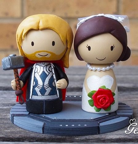 Another Cute Thor Cake Topper Groom Wedding Genefy