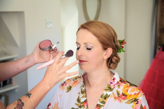 Finishing touches on one of WHAM Artist's brides