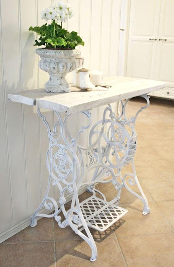 Vecchia macchina da cucire idee per la casa pinterest - Tavolo macchina da cucire ...