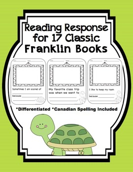 Franklin The Turtle Reading Response Reading Response