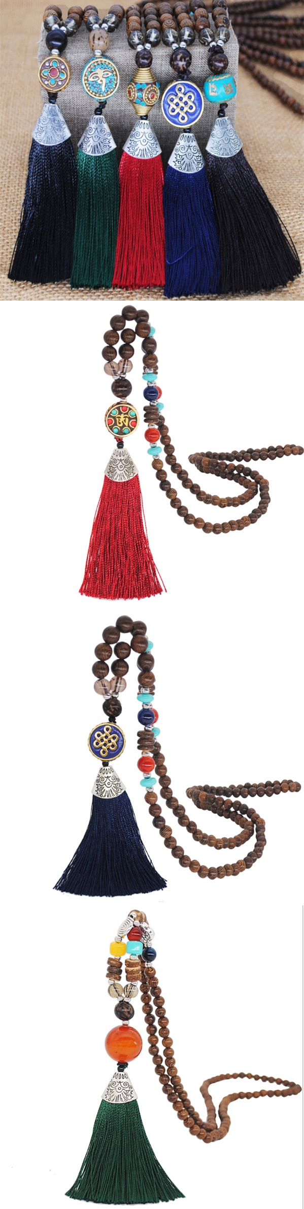 Necklaces  Ethnic Style Long Tassel Necklaces is part of food-recipes - Buy 2 Get 8% OFF Code GIFT8  Item ID G3102 Style Vintage,Casual TypePendant Necklace Weight About 30g Material Polyester  Package Includes 1 xNecklace Shipping Receiving time   Processing time + Shipping time Return Policy Our Guarantee Return or exchange within 14 days from the delivered date  Request 1  Items received within 14 days from the delivered date  2  Items received unused, undamaged and in original package  3  Return shipping fee is paid by buyer  4 We will refund the product payment only once we receive and check the item  More information >>