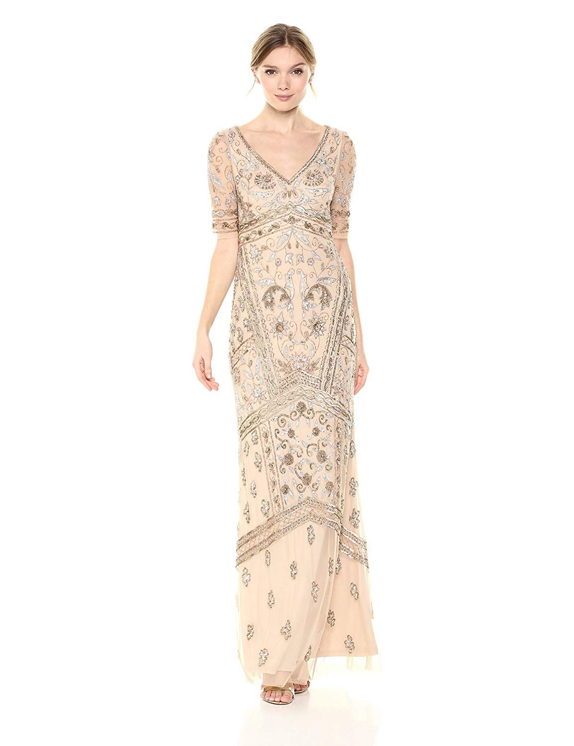 1920s Dresses Uk Flapper Dresses Gatsby Dress Adrianna Papell Womens Covered Beaded Special Occasion Dress 269 Maxi Dress Formal Dresses For Women Dresses
