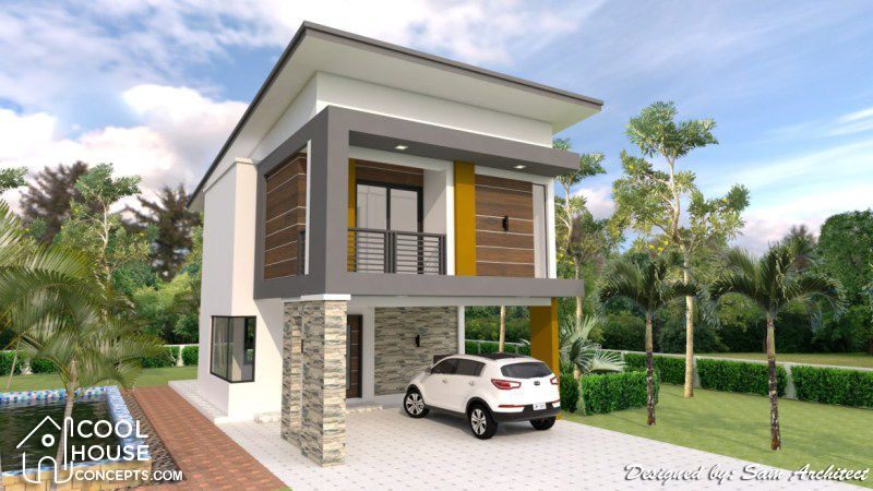Two Storey House Plan With 3 Bedrooms 2 Car Garage Cool House Concepts Two Storey House Plans Two Storey House House Layout Plans
