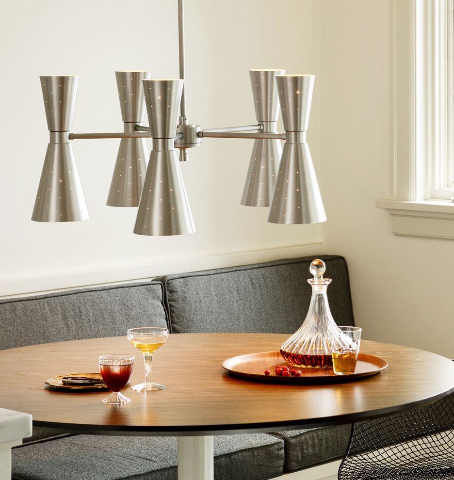Mid Century Modern Dining Room Lighting: Galaxy Wide Chandelier