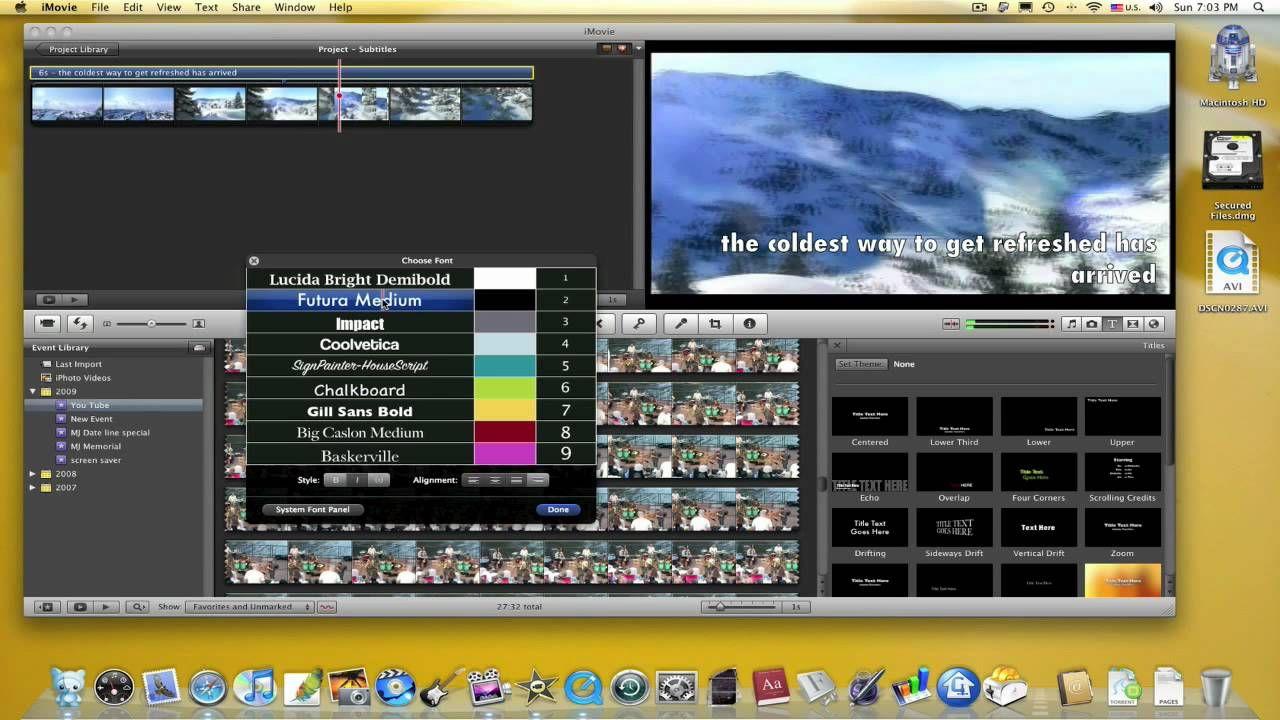 How to Subtitles iMovie 09 Subtitled, Tutorial, Thankful