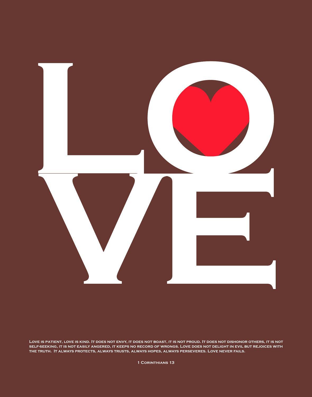 Love 1 Corinthians 13 Print - Custom Love Bird Family Tree and In ...