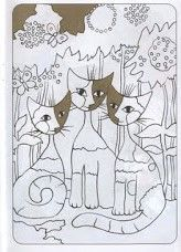 Coloriage Chat Rosina Wachtmeister.Wachtmeister Rosina Colorier Art Cat Art Cat Quilt