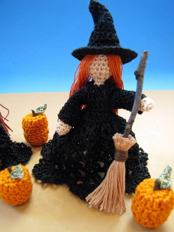 Die passende Anleitung für Halloween , Hexe häkeln. · Anleitung ...