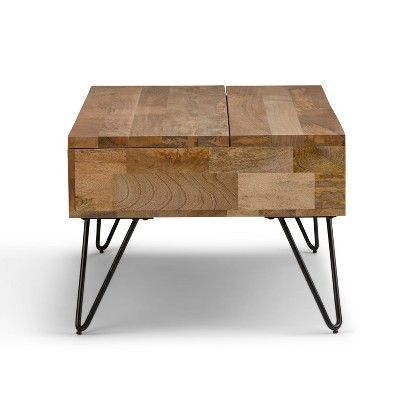 Moreno Solid Mango Wood Coffee Table Natural Wyndenhall Brown