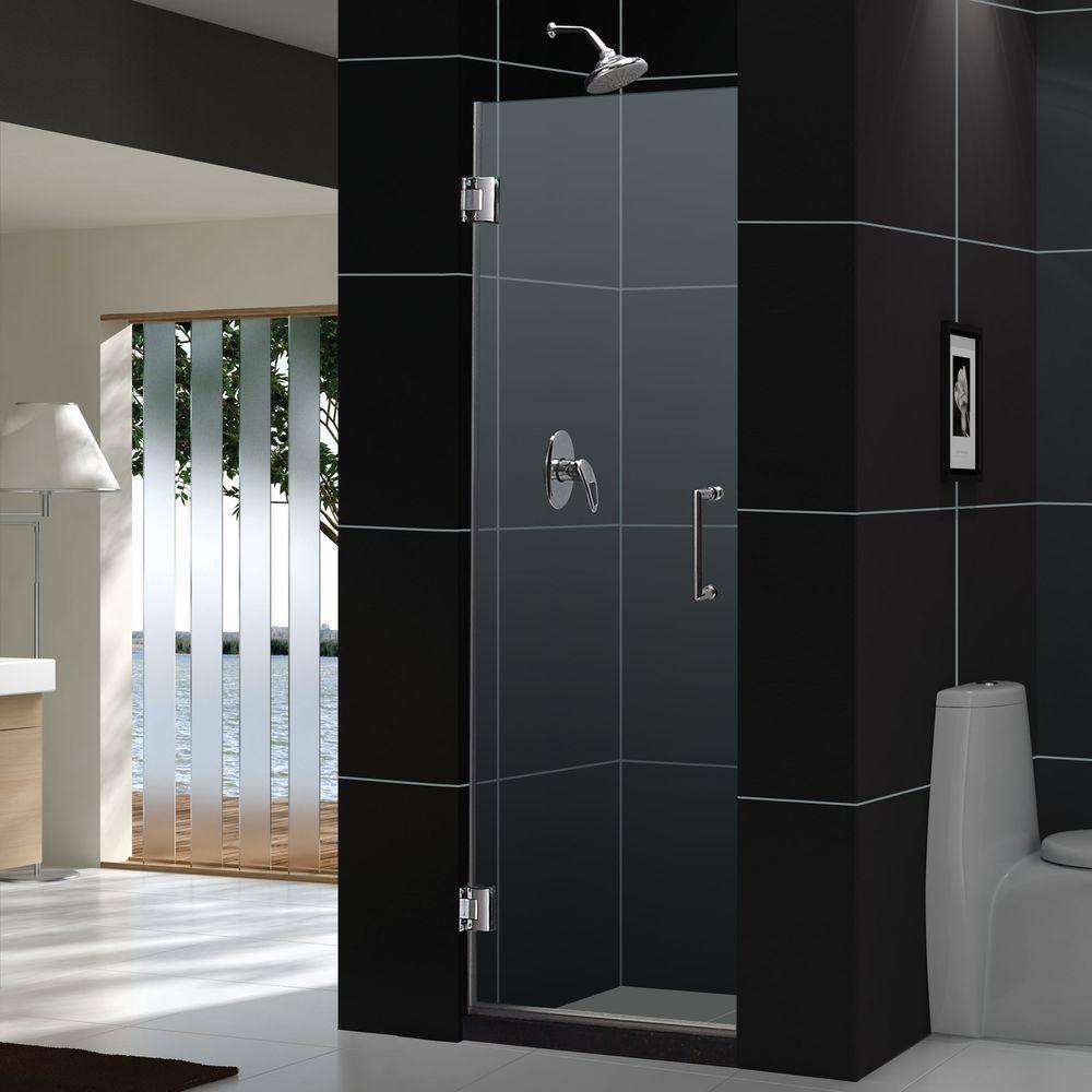 Dreamline Unidoor 23 In X 72 In Frameless Hinged Shower Door In Chrome Shdr 20237210f 01 Frameless Hinged Shower Door Frameless Shower Doors Shower Doors