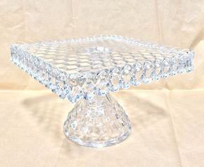 Crystal etched with the Waterford or Fostoria mark is worth picking up for cheap at thrift stores and garage sales.