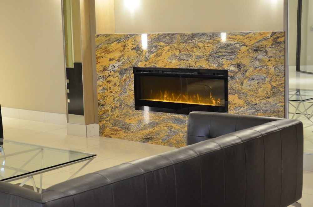 Dimplex Blf50 Electric Fireplace At Metro Place Condo Lobby