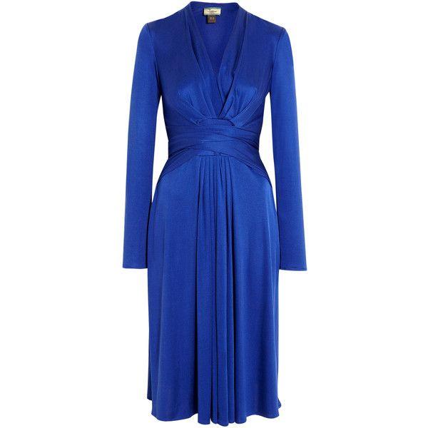 Issa False Wrap Tie Waist Silk Jersey Dress