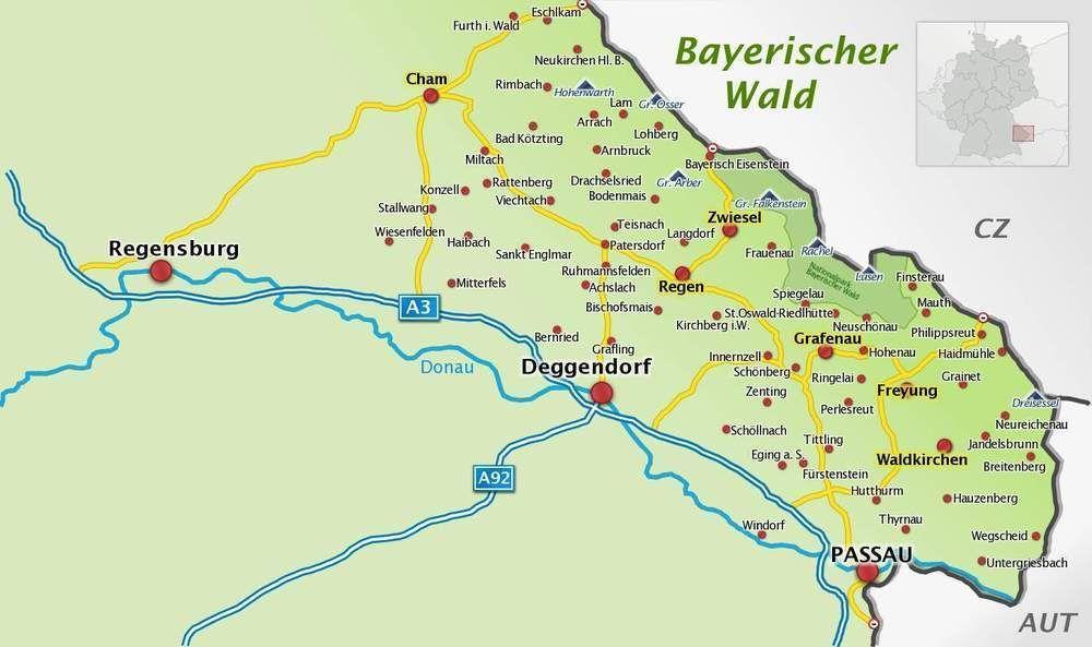 Bildergebnis Fur Berge Bayerischer Wald Karte Wald Berge