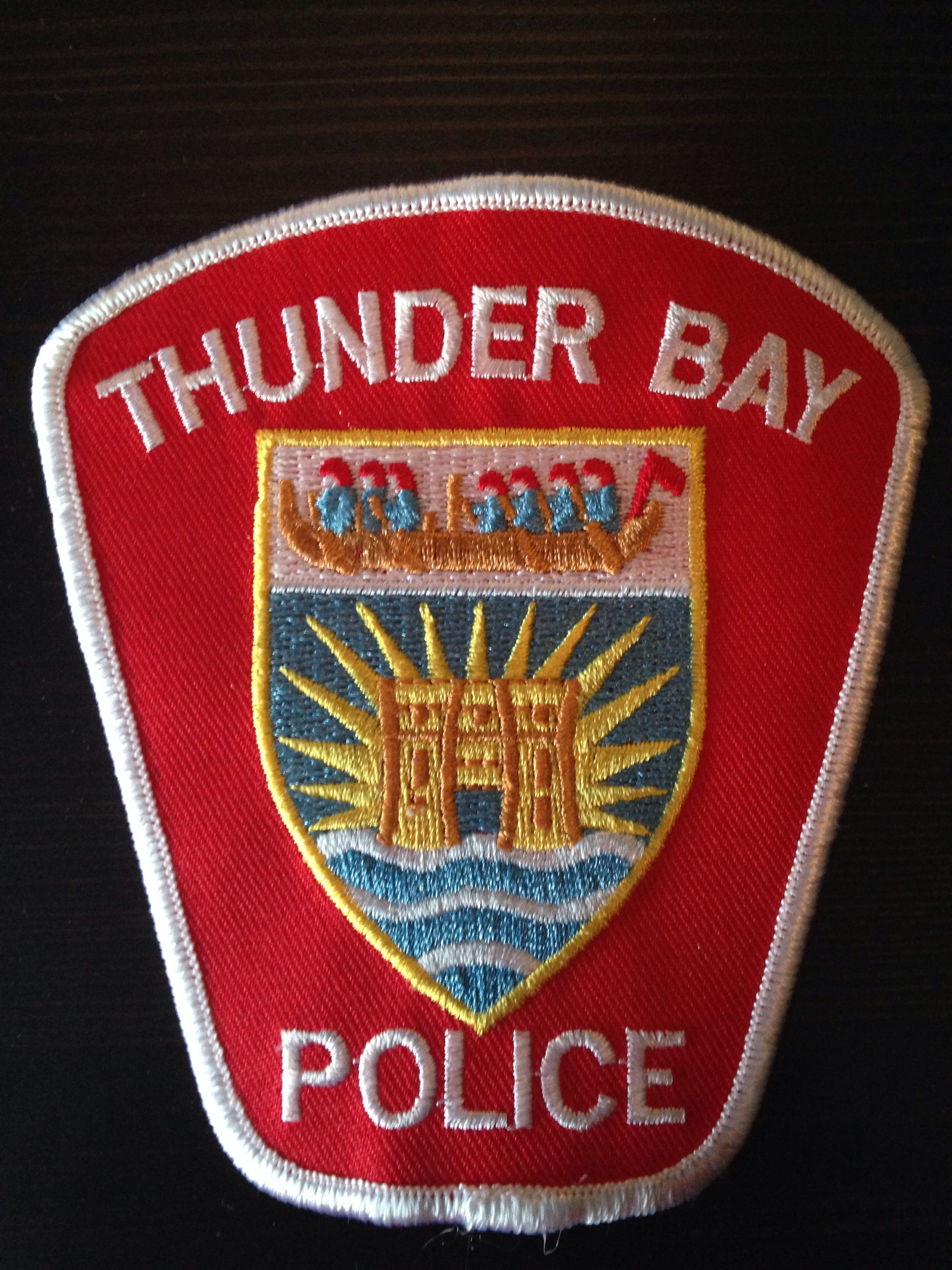 Thunder Bay Police Ontario Canada Obsolete Police Patches Police Police Badge