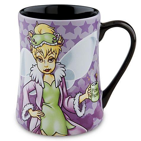 Juego de taza y taza de espresso Disneyland Paris Tinker Bell Mornings