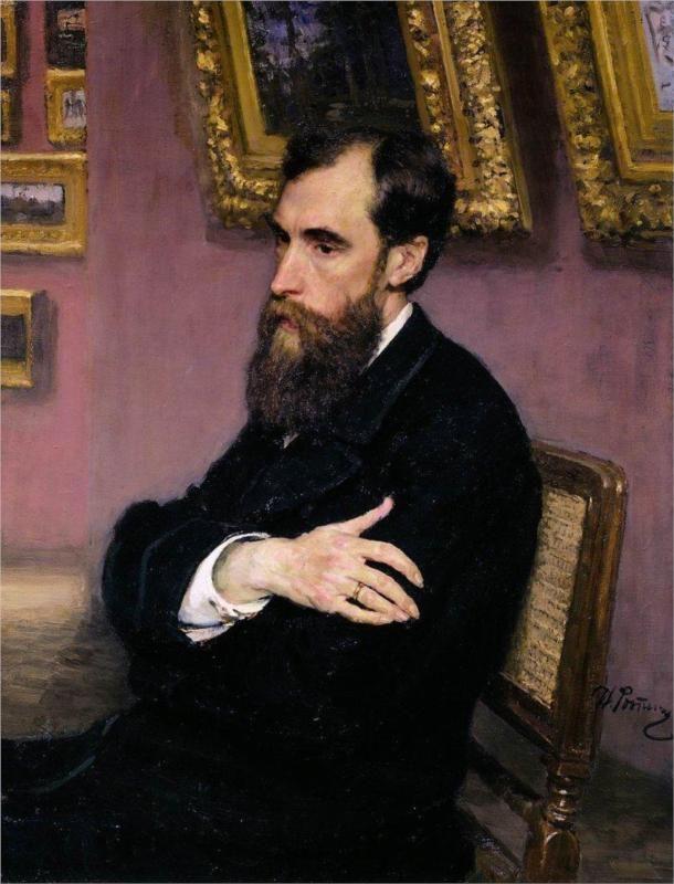 Portrait of Pavel Tretyakov, Founder of the Tretyakov Gallery, 1883  Ilya Repin