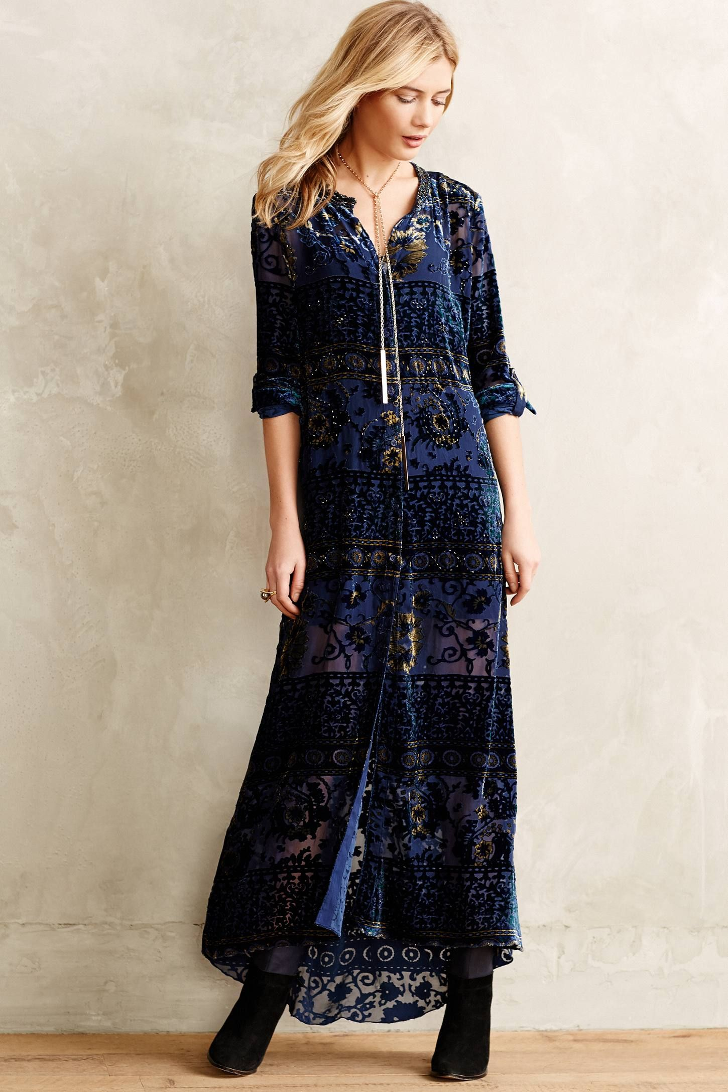 Naida Velvet Midi Dress - anthropologie.com
