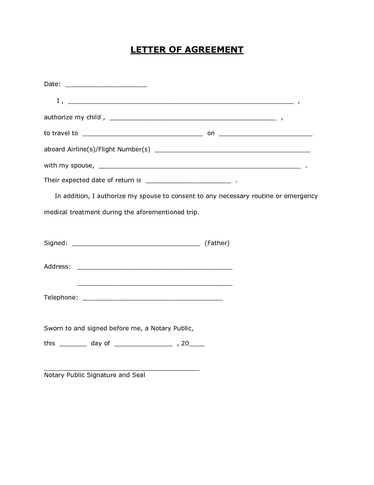 Letter Template For Permission Best Of 6 Child Travel