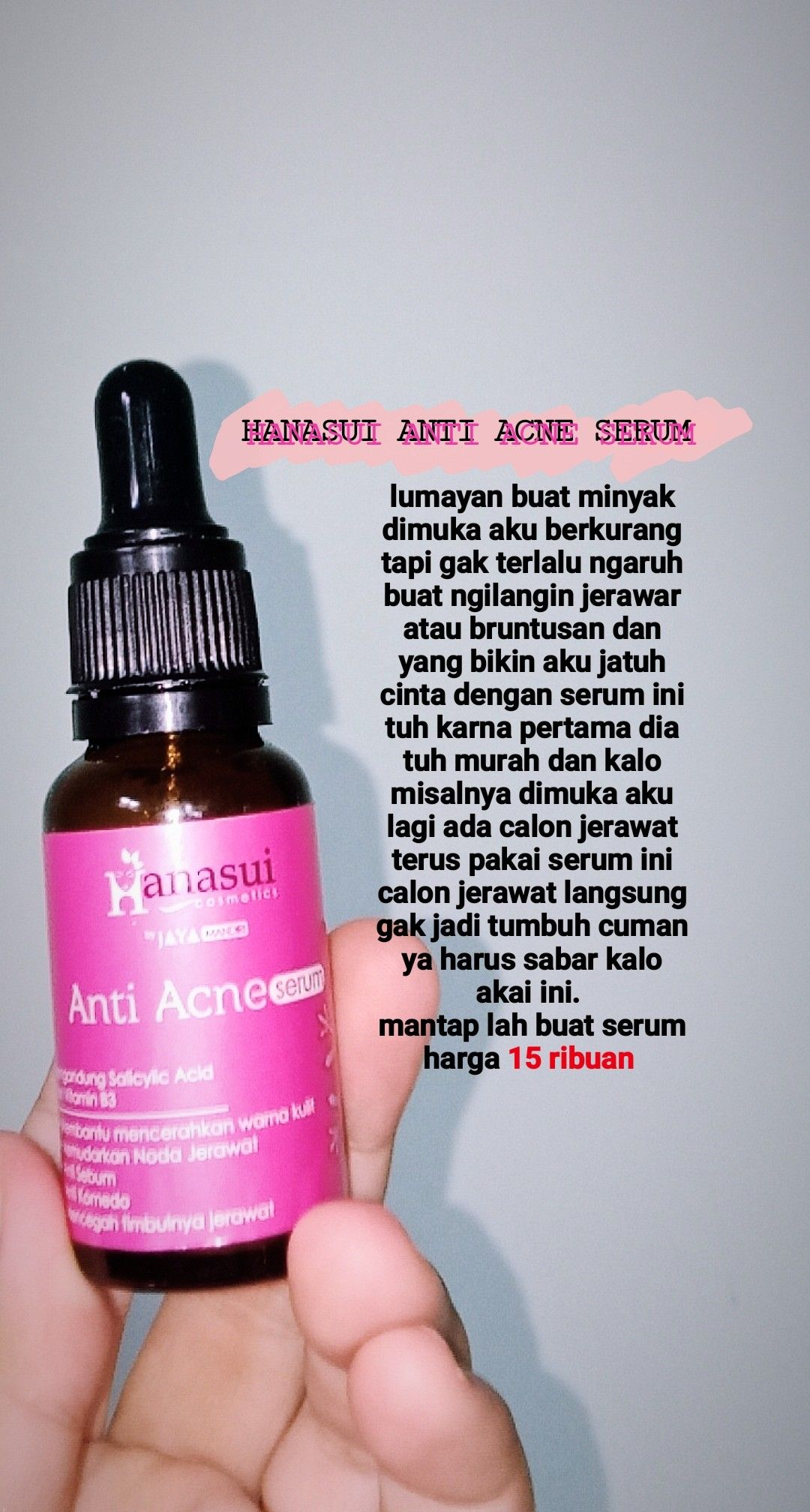 Review Hanasui Serum : review, hanasui, serum, Review, Perawatan, Kulit,, Produk, Jerawat