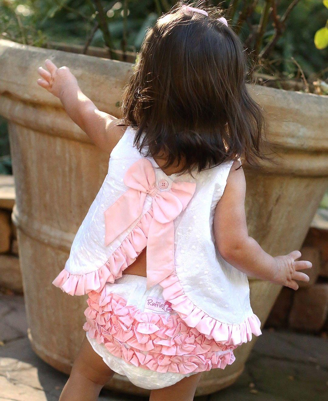 RuffleButts - Swiss Dot Bow-Back Swing Top Baby Boutique Clothing d69c1ecff