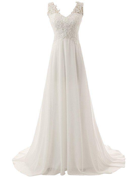 84€ V-Ausschnitt Hochzeitskleider Brautkleid Brautmode ...