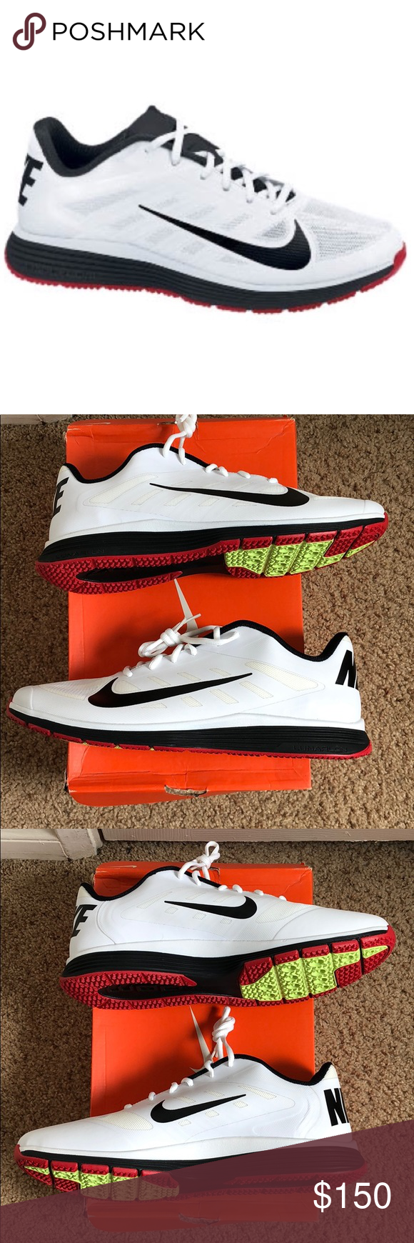 low priced a2312 c1fd9 Nike Lunar Vapor Trainer in University Red Nike Lunar Vapor Trainer in White  Black