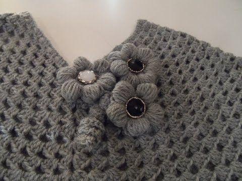Crochet Cute Baby Cape Shawl Poncho #TUTORIAL Closed Caption ...