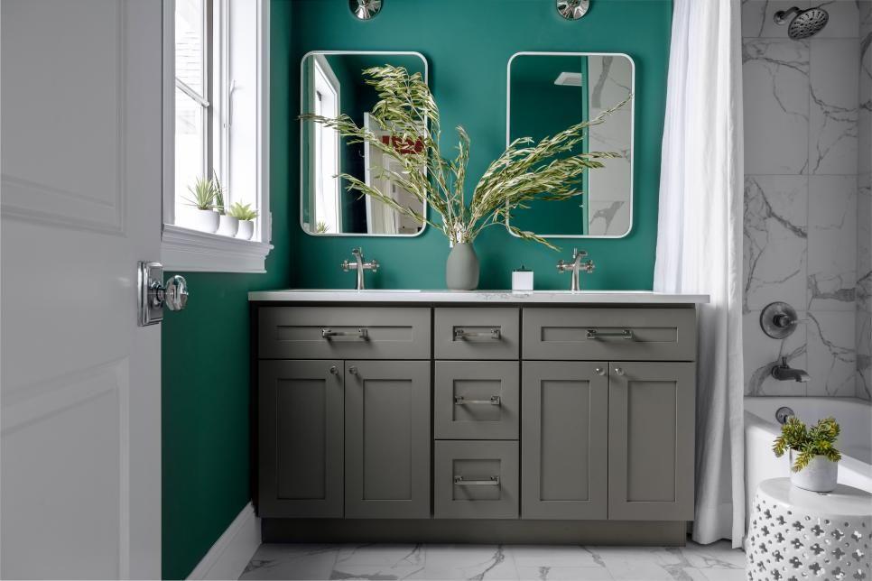 Guest Bathroom From HGTV Dream Home 2021   Hgtv dream home, Bathroom paint colors, Hgtv