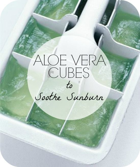 Have a sunburn? Ouch! Get creative for after sun care and make these Aloe Vera Ice Cubes from The Dumbbelle plus 40 Additional Beach Tips and Tricks - Hacks and Ideas for Your Trip to the Sand