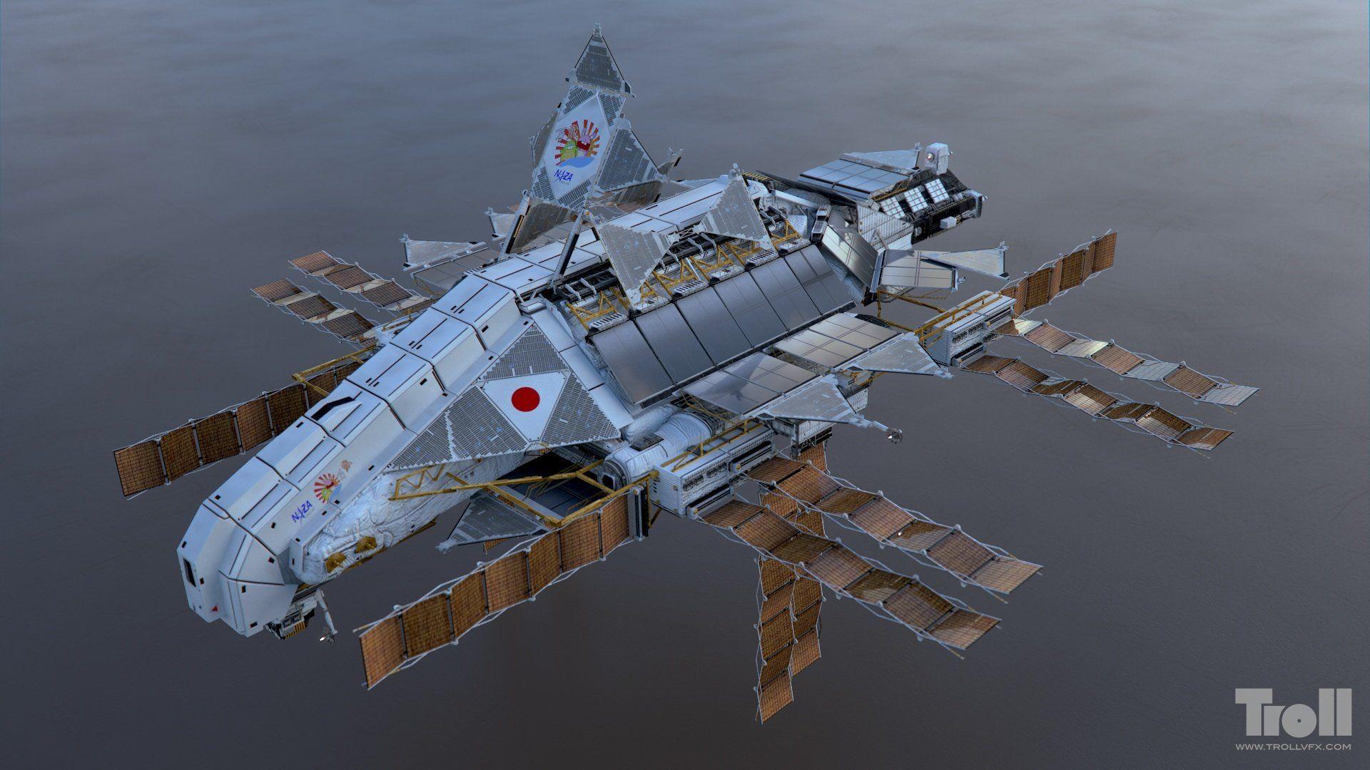 Artstation Iron Sky Banzai Tuomas Kankola Sci Fi Spaceships