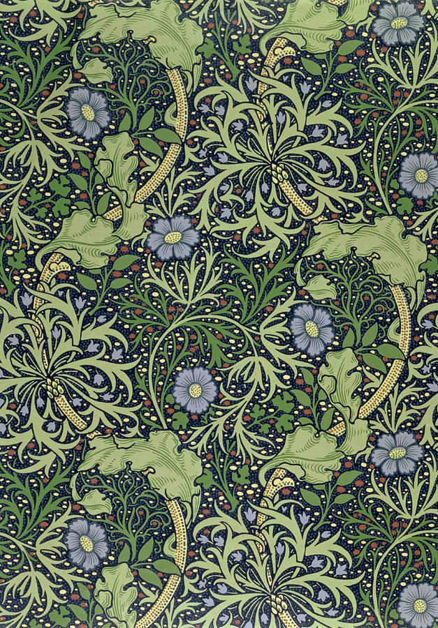 Seaweed Wallpaper Design, printed by John Henry Dearle