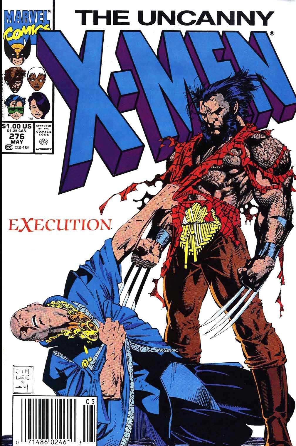 The Uncanny X Men Vol 1 276 By Jim Lee Scott Williams And Pat Brosseau Wolverine Professorx Marvel Comics Covers Comic Books Art Comics
