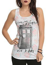 HOTTOPIC.COM - Doctor Who Madman Floral Girls Tank Top